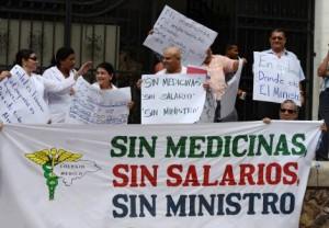HONDURAS-HEALTH-STRIKE