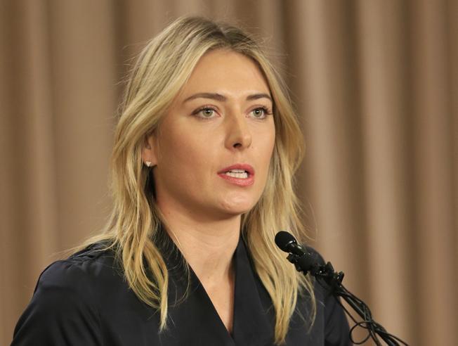 Maria Sharapova, durante la rueda de prensa en que anunció su suspensión por Meldonium FOTO: AP