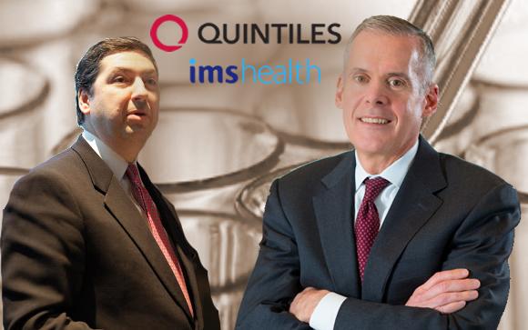 De izda. a drcha.: Ari Bousbib, CEO de IMS Health; y Tom Pike, CEO de Quintiles
