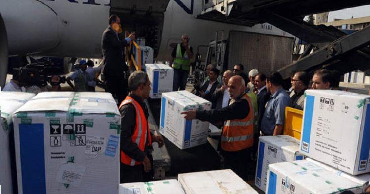 Dos toneladas de medicamentos arriban a Damasco, Siria, procedentes de Cuba