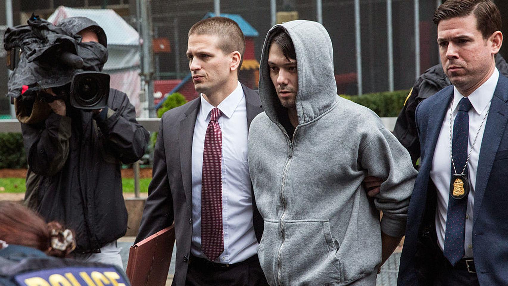 La sudadera con capucha de Shkreli en el momento de su detención se hizo mítica.