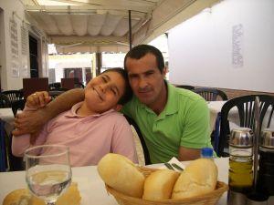 Juan, padre, con su hijo Juan Francisco.