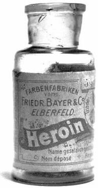 Frasco de heroína de Bayer - Jarabe de heroína - vender heroína - desintoxicación de drogas - adicciones