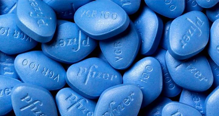 Imagen de pastillas de viagra de la marca Pfizer